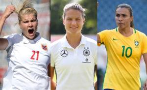 Ada Hederberg Dzsenifer Marozsan y Marta Vieira son tres de las mejores jugadoras de mundo.