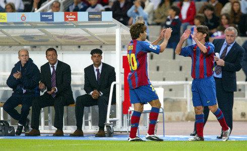 Lionel Messi debutó en partido oficial el 16 de octubre de 2004 ante el Espanyol.